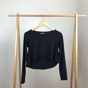 Sympli • Shorty Top Long Sleeve Size 8 Black